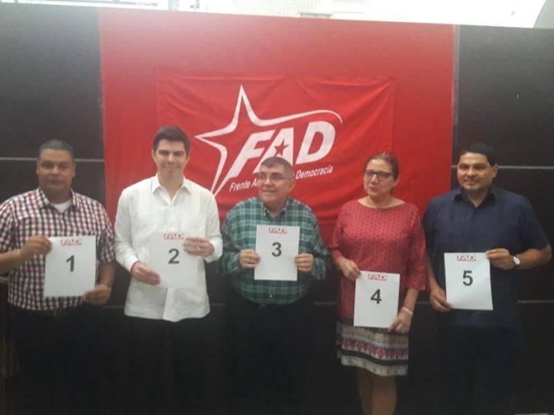 [Panamá] Frente Amplio por la Democracia sortea posición de sus precandidatos presidenciales para las primarias