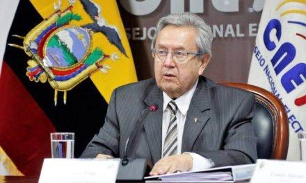 [Ecuador] Presidente del CNE transitorio considera pedir prórroga de funciones