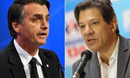 Ibope: «Jair Bolsonaro y Fernando Haddad podrían enfrentarse en segunda vuelta»