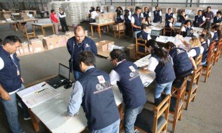 [Perú] ONPE inicia distribución de material electoral