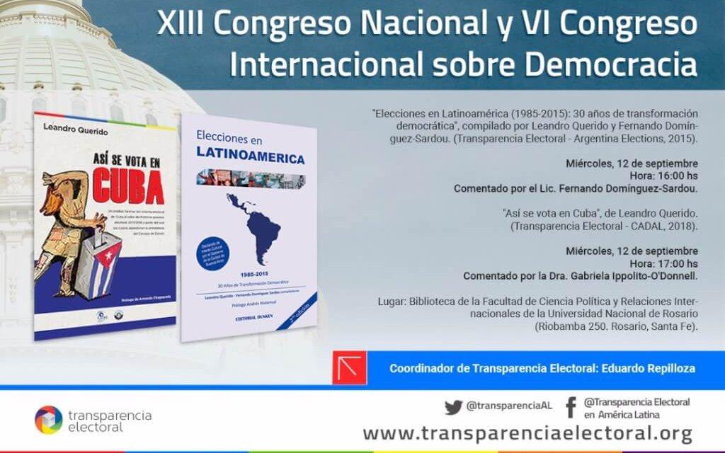 [Argentina] Transparencia Electoral presentó sus últimas dos publicaciones en el Congreso Democracia 2018