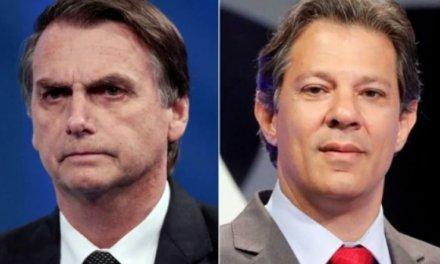 [Brasil] Encuesta Ibope a 4 días de las presidenciales: Bolsonaro baja 2 % en intención de voto y Haddad sube 2 %