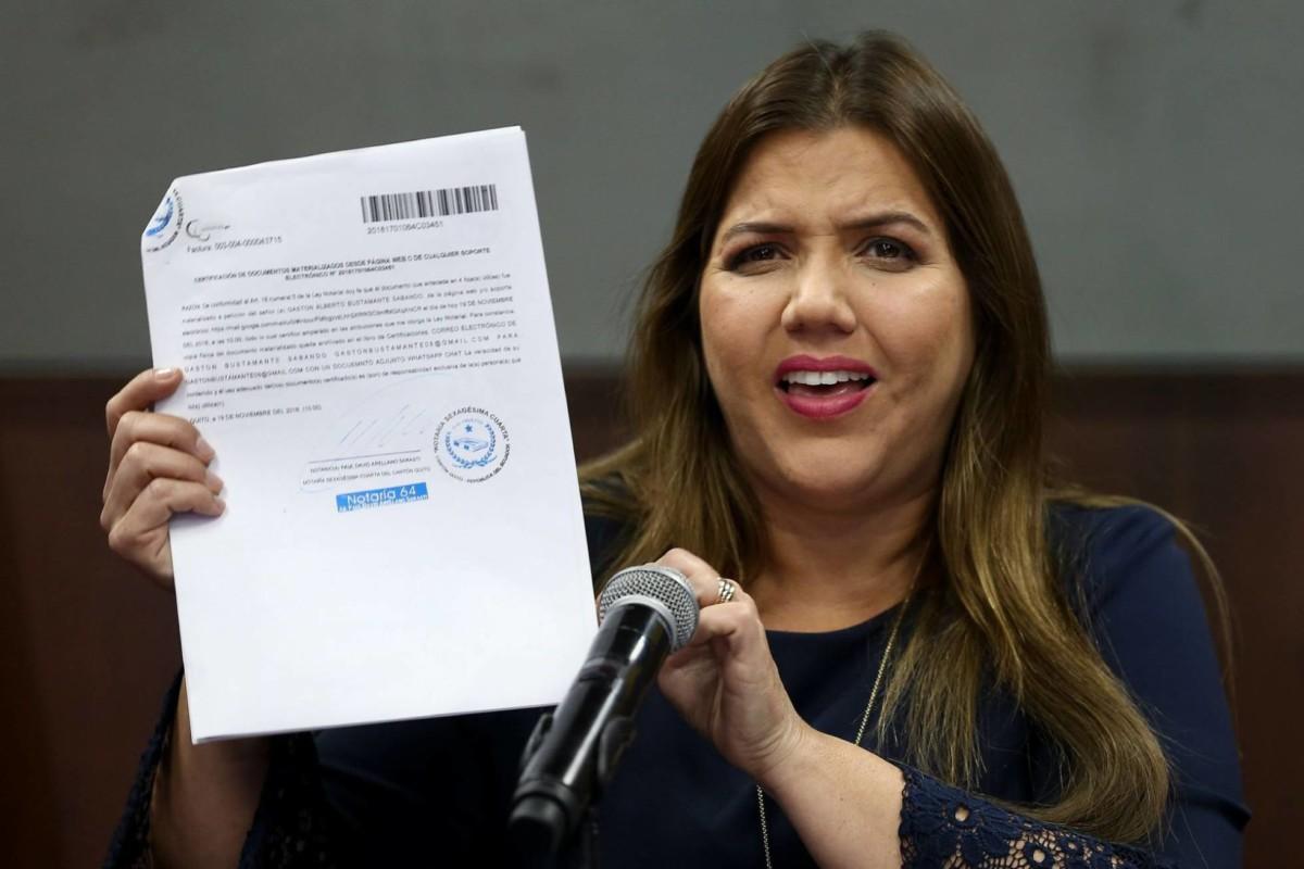 (Ecuador) Moreno suspende las funciones de la vicepresidenta de Ecuador, acusada de cobros ilegales