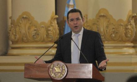 (Guatemala) Pdte. Morales: Elecciones deben ser libres y sin intervención