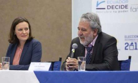 """(Ecuador) El CNE anuncia que la OEA no observará las seccionales porque """"no respetó el reglamento del CNE"""" en las elecciones pasadas"""
