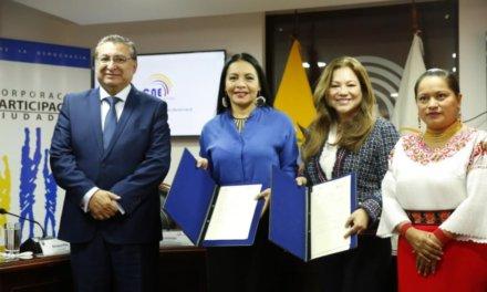 (Ecuador) El CNE y Corporación Participación Ciudadana firmaron un convenio de observación y monitoreo electoral