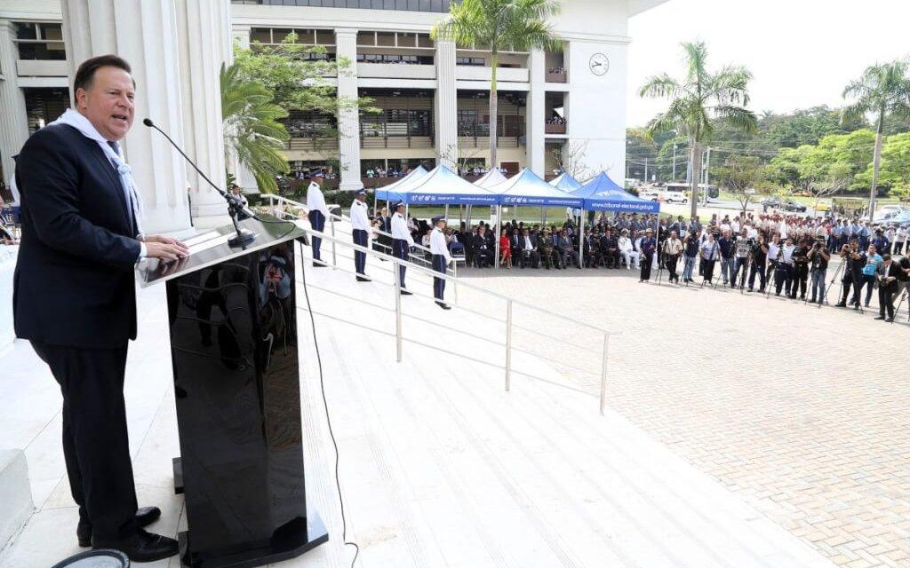 """(Panamá) Pdte. Juan Carlos Varela: """"Quiero hacerle un llamado al pueblo para que salga a votar, que el día de las elecciones sea una gran fiesta»."""