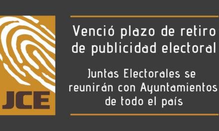 (República Dominicana) Venció el plazo de quince días otorgado por la JCE para el retiro voluntario de publicidad electoral