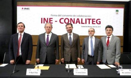 (México) INE y CONALITEG firman convenio para reciclar papelería electoral y utilizarla en los libros de texto gratuitos