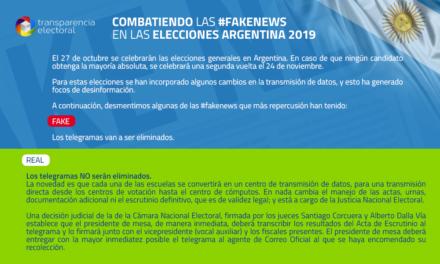 Transparencia Electoral: Combatiendo la desinformación: La nueva modalidad de transmisión de datos en las elecciones argentinas