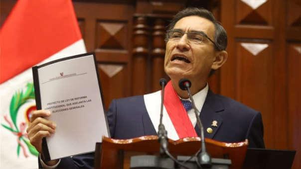 (Perú) Pdte. Vizcarra propone adelanto de las elecciones presidenciales para el 2020