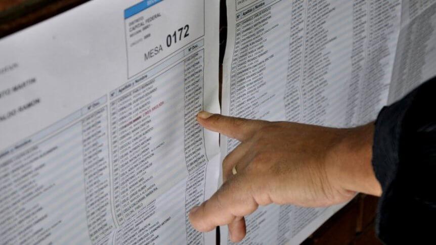 (Argentina) Se habilitó el padrón electoral para las elecciones 2019