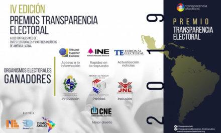 Transparencia Electoral premió a entes electorales y partidos políticos de la región