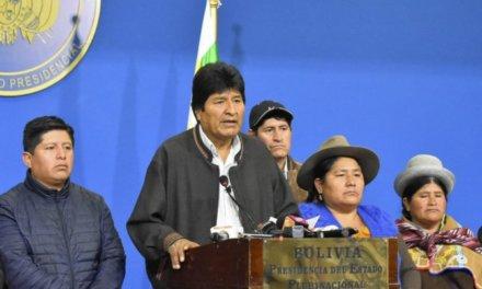 (Bolivia) Después de que se dieran a conocer los resultados de la auditoría de la OEA, Evo Morales renunció a la presidencia, denunció golpe