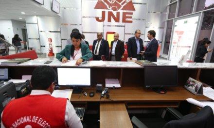(Perú) 562 listas de candidatos solicitaron su inscripción ante los 26 Jurados Electorales Especiales (JEE) habilitados en todo el país