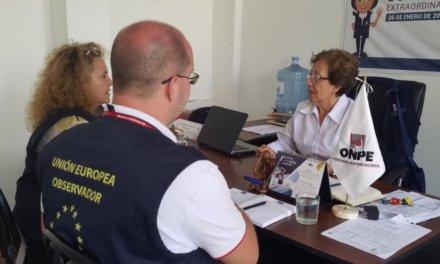 (Perú) Elecciones Congresales 2020: Observadores de la Unión Europea interactuaron con soluciones tecnológicas de la ONPE