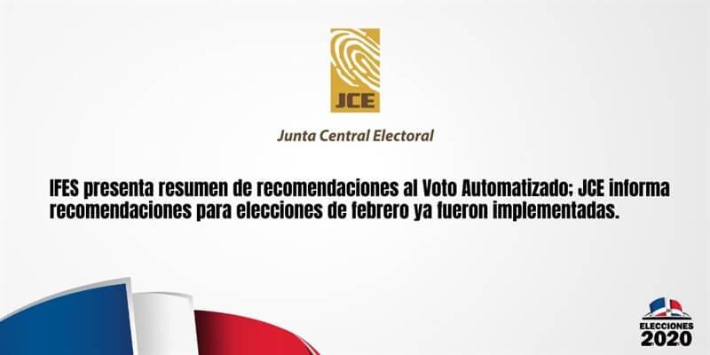 (República Dominicana) IFES presenta resumen de recomendaciones al Voto Automatizado