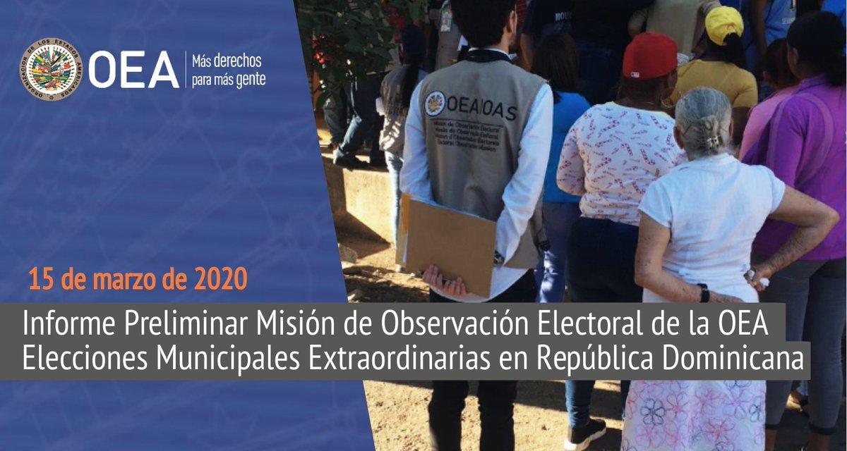 (República Dominicana) Misión de la OEA reconoce el esfuerzo de la Junta Central Electoral en organización de elecciones e implementación de sus recomendaciones