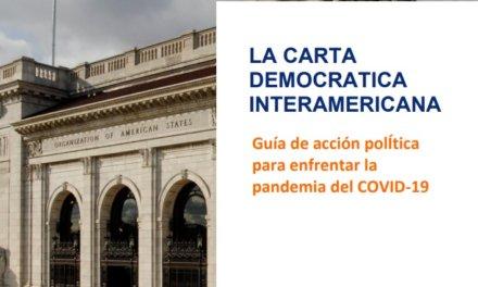OEA lanza Guía de acción política para enfrentar la pandemia del COVID-19 bajo principios democráticos