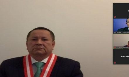 Perú) el fiscal supremo titular Luis Carlos Arce Córdova se incorporó como miembro titular del Pleno del JNE para el período 2020-2024