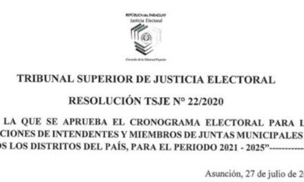 (Paraguay) TSJE dispone como fecha para las Elecciones Municipales el 10 de octubre del 2021