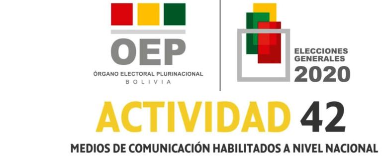 (Bolivia) El TSE publica las listas de medios de comunicación habilitados para difundir propaganda electoral pagada