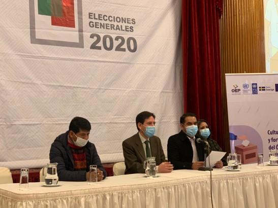 (Bolivia) El TSE entrega material impreso y audiovisual para capacitación de todos los protagonistas del proceso electoral