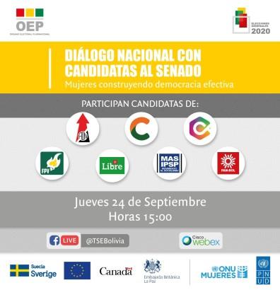 (Bolivia) TSE impulsa diálogo nacional por los derechos de las mujeres en los programas de gobierno