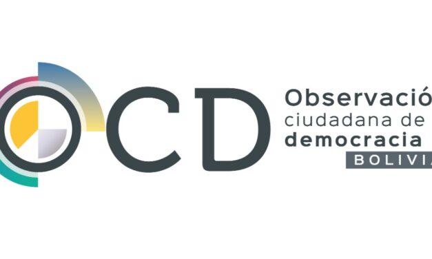 (Bolivia) TSE acredita a alianza Observación Ciudadana de la Democracia (OCD) para observar los comicios