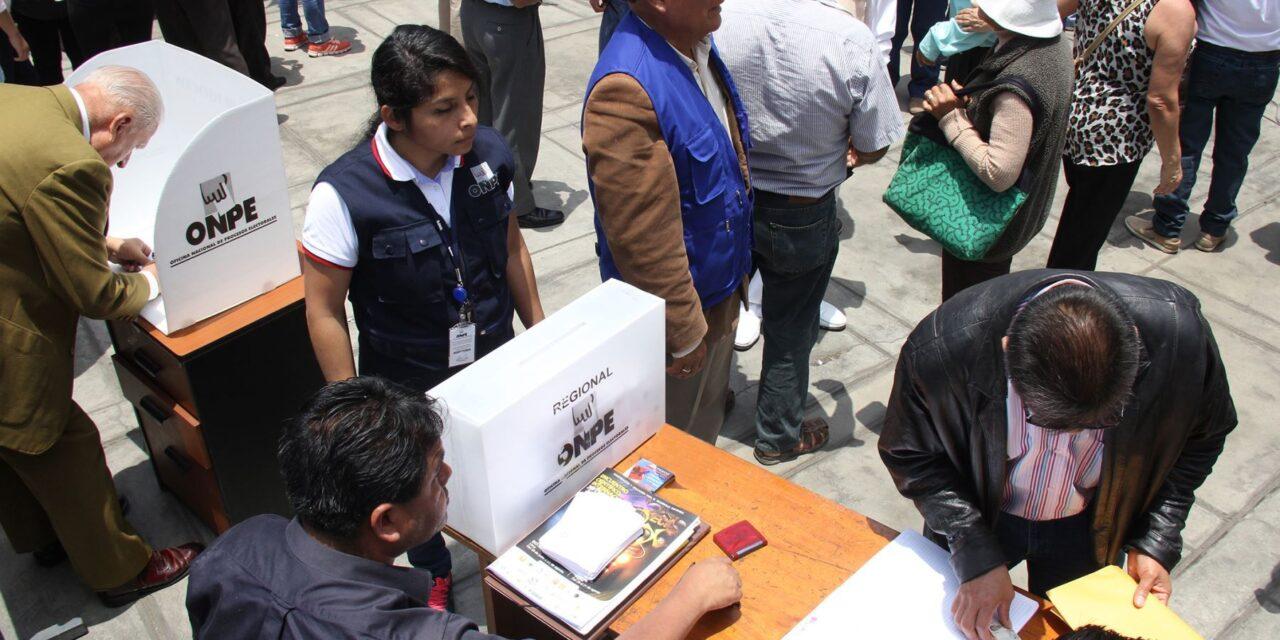 [Perú] «Elige tu local de votación»: el nuevo programa que la ONPE lanzará en diciembre