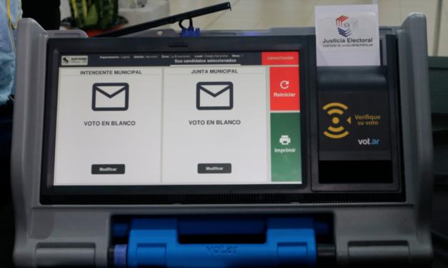 [Paraguay] TSJE explicó cómo utilizar las máquinas de votación
