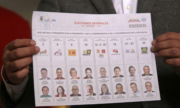 [Ecuador] CNE retomó la impresión de papeletas para presidente y vicepresidente