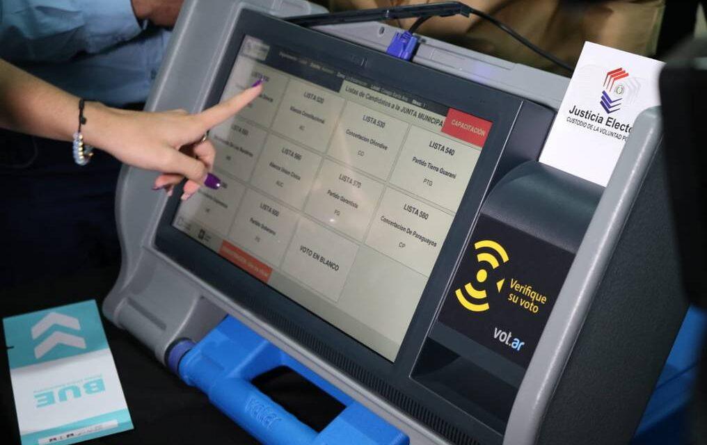 [Paraguay] Voto electrónico: ANR y TSJE acuerdan cooperación para el uso de máquinas de votación