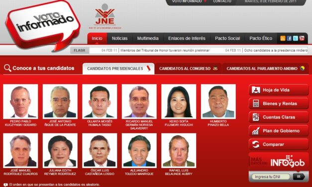 [Perú] JNE lanza plataforma para comparar hojas de vida de candidatos