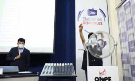 [Perú] ONPE determinó por sorteo ubicación de las organizaciones políticas en la cédula de sufragio