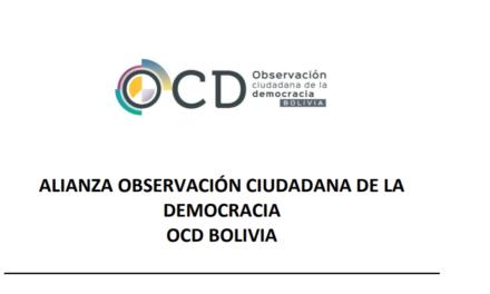 [Bolivia] La OCD observó ausencia de notarios y falta de información en guías electorales