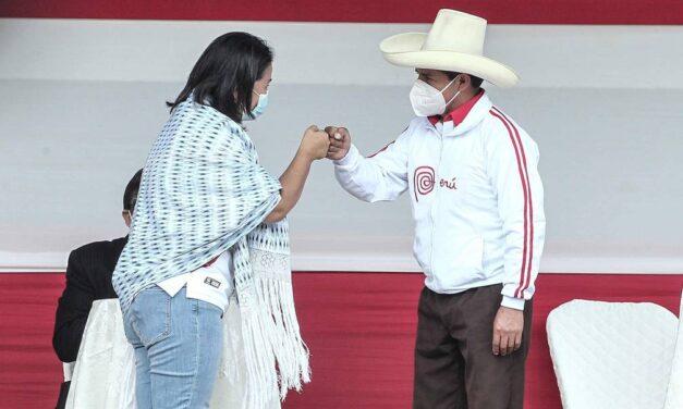 [Perú] ONPE: Resultados con actas contabilizadas al 100%: Castillo 50.125% y Keiko 49.875%